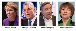 Les chefs politiques du Québec font pitié