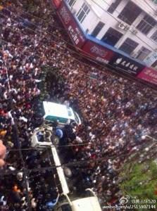 Une révolte populaire qui va laisser des traces,car devant le  peuple,l'état communiste chinois...a tremblé en ce 19 avril 2014..