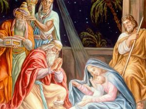 Jésus Christ: l'adoration des mages.
