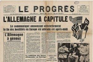 Le 8 mai 1945 ,on annonçait la capitulation de l'Allemagne.