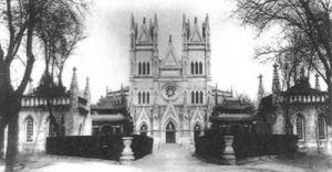 Xishiku,l'église catholique de Pékin ,en 1900.