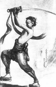 Boxer à l'entrainement.Les membres étaient surtout recrutés dans les écoles d'arts martiaux.