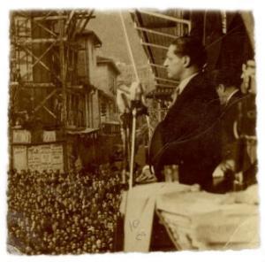 Jorge Eliécer Gaitan s'adressant au peuple.