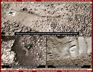 Photos prises récemment et affichées sur le site de la NASA.