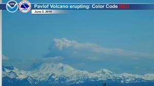 En ce 2 juin 2014,le mont Pavlov en Alaska est entré en éruption.