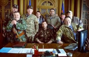 Voici le premier gouvernement de la  nouvelle République Populaire de Lugansk ,une  ancienne ville d'Ukraine.