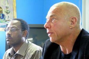 M.Biutati et François Roy en conférence de presse.
