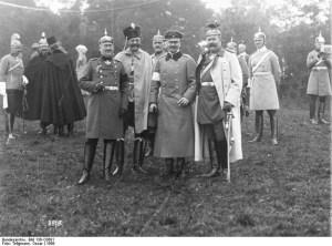 L'Archiduc François-Ferdinand d'Autriche-Hongrie est ici re¸u par  le premier-ministre Bismark ,en Allemagne...un peu avant son voyage < Sarajevo  ,en Serbie. L'assassinat de l'archiduc par la société secrète de la Main Noire va provoquer  l'étincelle de la Première Guerre Mondiale.