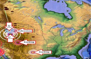 Les opérations de fracking pour rechercher  le gaz de schiste auraient même une incidence. Même  le capitalisme participe à l'éruption de Yellowstone./ Operations fracking search for shale gas might even affect.  Even capitalism contributes to the eruption of Yellowstone.