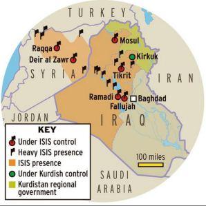 L'expansion de l'État Islamique...bien armé et bien financé.