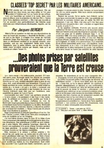 Le 26 avril 1977 ,Jacques Bergier signait un article qui allait faire beaucoup de vagues.