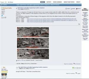 La fameuse capture d'écran du post de Waring sur le forum...qui  sera responsable de son renvoi.
