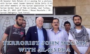 John McCain avec ses petits amis terroristes.