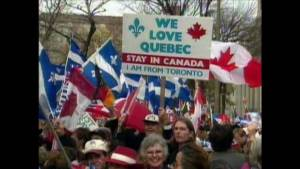 Lors du référendum de 1995,des canadiens fédéralistes étaient venu nous dire qu'ils nous aimaient...!