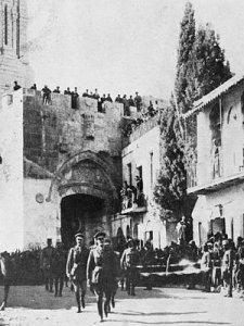 Jérusalem en 1917 lors du passage des troupes  anglaises.