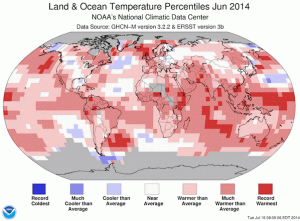 La photo alarmante du réchauffement global./ The alarming picture of the global warming.