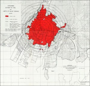Études allemandes montrant les effets d'une explosion atomique centrée sur ...l'île de Rügen!