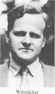 Von Weisacker,le penseur de la bombe allemande.
