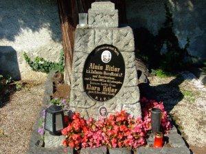 Dalle funéraire d'Alois Hitler,père du Führer.
