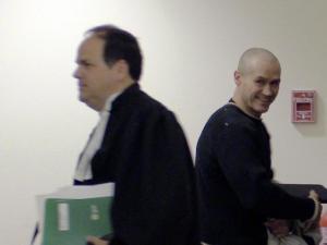 Claude Pepin était tout sourire après avoir entendu les résultats d'un premier plaidoyé en mars 2015.