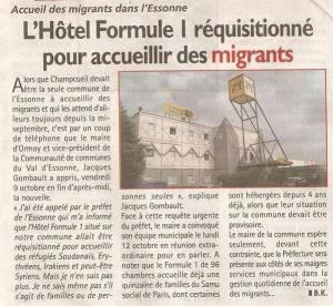 L'Essonne réquisitionne un Hôtel Formule 1 pour les Migrants ! Par contre,en Ftance,on ne fait presque rien pour les sans-abris,les itinérants et les squatters.Comme au Québec,par exemple,mais nos politiciens véreux veulent ouvrir toutes grandes les portes.