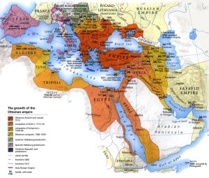 L'Empire Ottoman et son évolution.