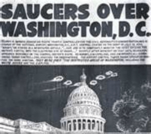 La une du journal de Washington du 29 juillet 1952.