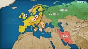 Le bouclier américain de missiles  déployé en Europe.