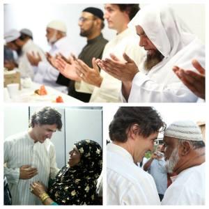 Au lendemain de sa victoire électorale:le premier libéral franc maçon prie avec ses alliés islamistes.