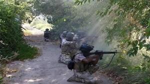 Photo prise récemment de l'attaque de l'armée syrienne au Golan.