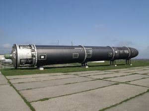 Vous voyez ici la première version du Missile Satan.
