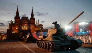 La parade du jour de la Victoire,à Moscou cette année.
