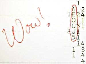 Le papier d'enregistrement du message...avec le Wow ! .
