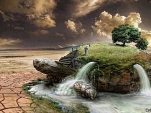 Une vision de l'Île de la Grande-Tortue.