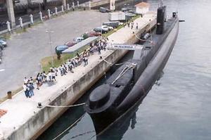 BNS Riachuelo Les 75 pieds de long sous-marin est l'un des plus furtif dans le monde. Il est géré par l'énergie électrique, et dispose de 6 tubes lance-torpilles. De la marine brésillienne.