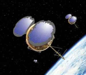 """Avec autant de satellites en orbite autour de la Terre, comment serait-il difficile d'équiper l'un avec une arme prête à tirer sur la Terre, ou d'autres satellites, en fonction des besoins dictés? Alors qu'un tel concept irait à l'encontre des accords tels que le Traité sur l'espace extra-atmosphérique, qui interdit les armes de destruction massive en orbite, quelques organisations militaires ont discuté au cours des dernières années par. Un célèbre projet américain des années 1950 était de projet Thor, qui n'a jamais dépassé le stade de la conception. Divers concepts pour les armes spatiales au fil des ans inclus """" Rods de Dieu » , qui chuterait armes à énergie cinétique de l' orbite, ainsi que de petits satellites qui auraient à bord des systèmes leur permettant de viser d'autres satellites ou au sol en dessous de ciblage."""