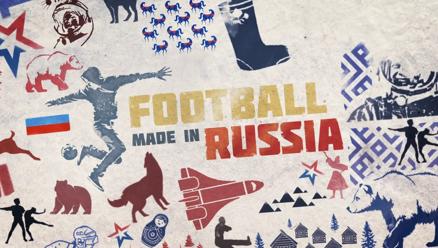 Football made in Russia music by Michel Duprez
