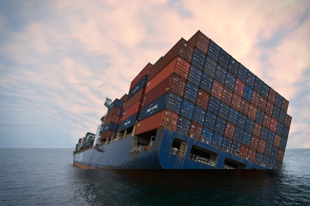 sinking containership
