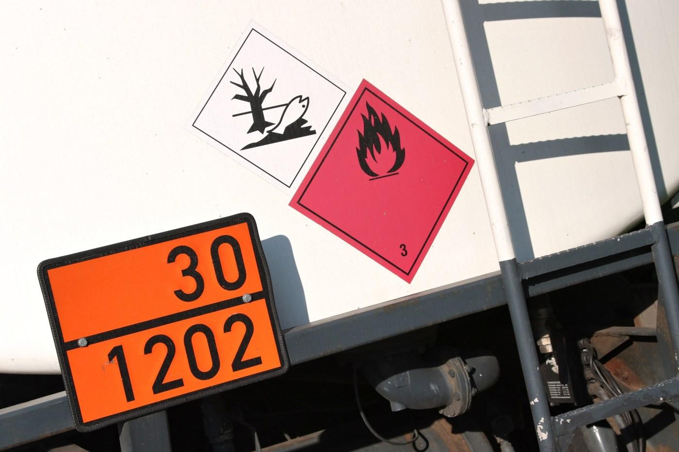 Pannelli merci pericolose