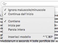 TextEdit - inserisci modello