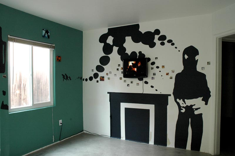 Living Room With Ghost And No Tv Vacancy 2 Michele Guieu Eco Artist Eco Art Educator