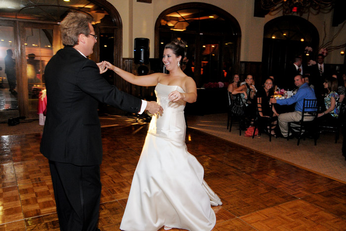 A whirl around the dance floor with Dad.