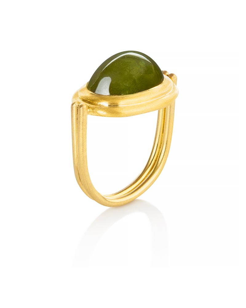 22k Gold Jade Ring  Michele Mercaldo Jewelry