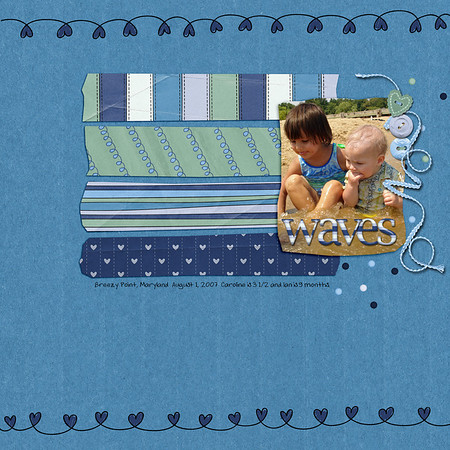 "created for fun August 15, 2011 with kit, ""I Love My Boy"" and template ""Fun With Scissors"" both by Jen C Designs"