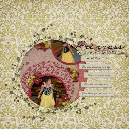 Little Green Frog Designs Another Level template and Trixie Scraps' Renaissance Romance kit, both at Funky Playground Designs