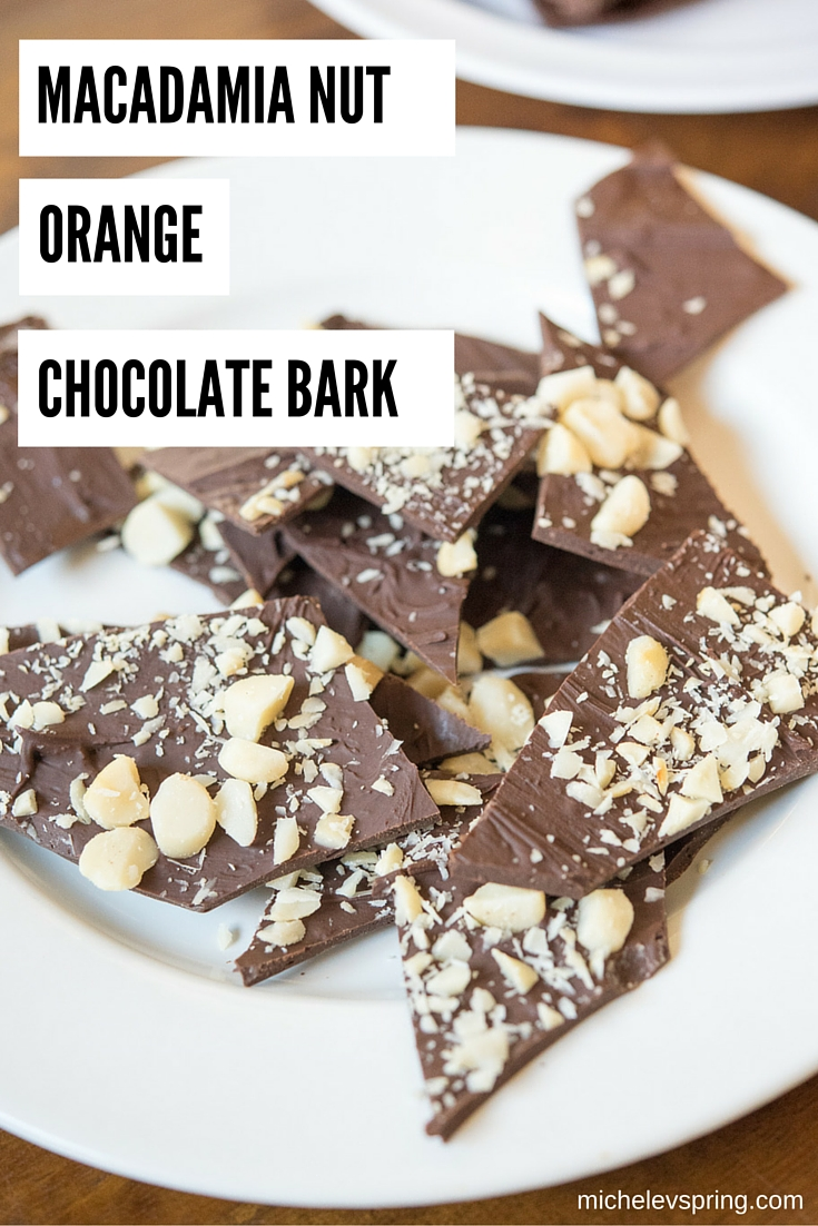 Macadamia Nut Orange Chocolate Bark: a wonderful gift for the holidays or item to include at your next party using essential oils to flavor it!