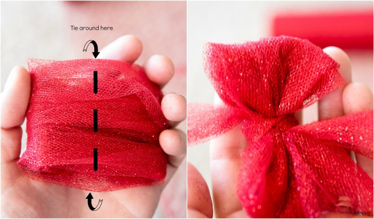 DIY Mini Tulle Pom-Poms as Gift Toppers
