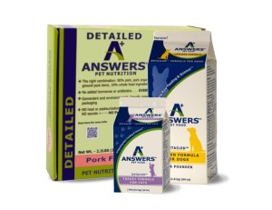 Answers Pet Food Detailed Formula, Complete Diet for Dogs and Cats
