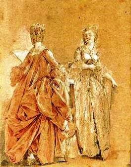 Two Ladies by Moreau le Jeune