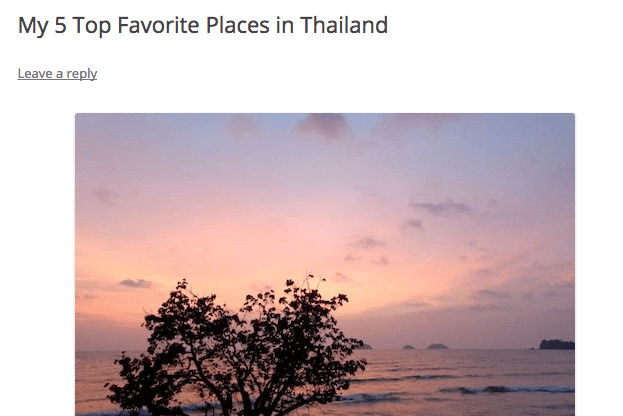 My Top 5 Favorite Places in Thailand